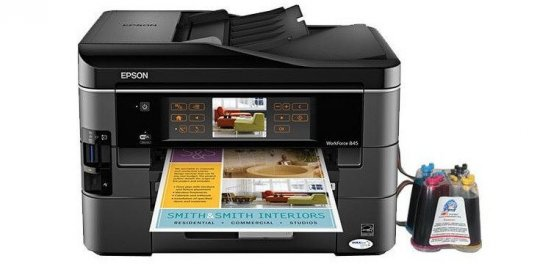 фото МФУ Epson WorkForce 845 с СНПЧ
