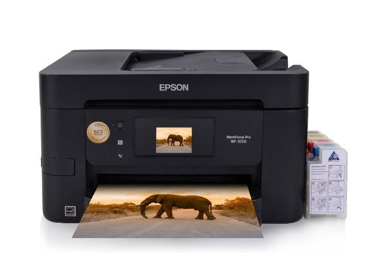 МФУ Epson WorkForce Pro WF-3720DWF с СНПЧ