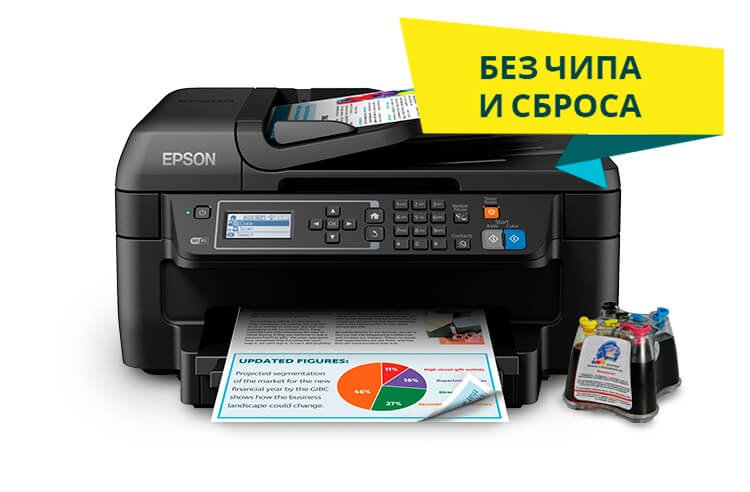 МФУ Epson Workforce WF-2750 с СНПЧ