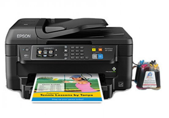 фото МФУ Epson Workforce WF-2760 с СНПЧ