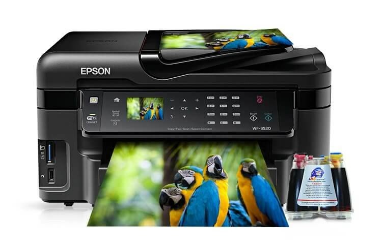 фото МФУ Epson Workforce WF-3520DWF Refurbished с СНПЧ