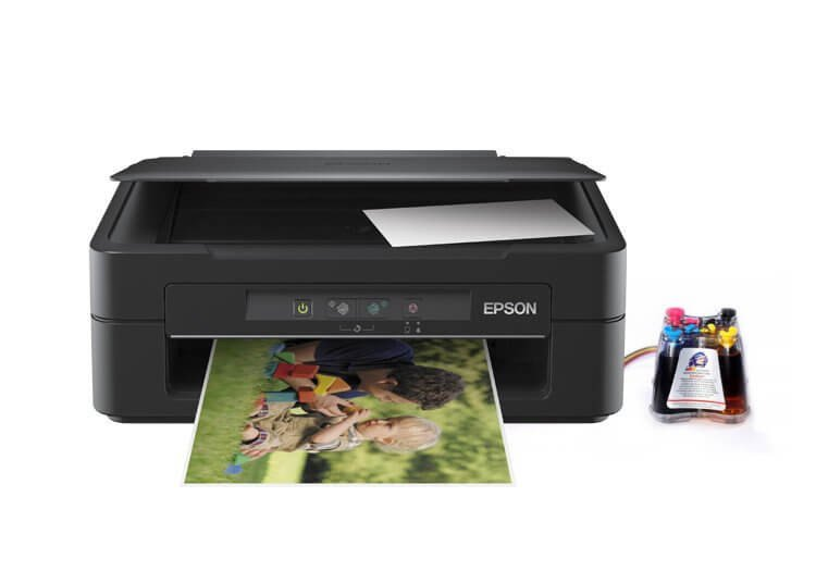 фото МФУ Epson Expression Home XP-100 с СНПЧ