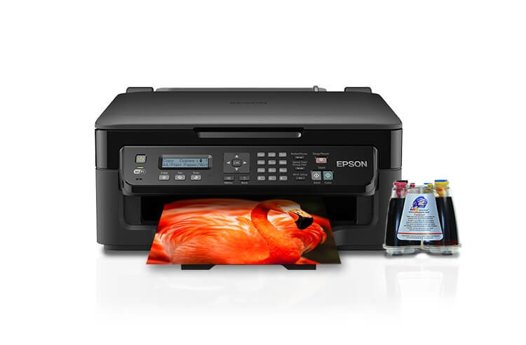 фото МФУ Epson Workforce WF-2510WF с СНПЧ
