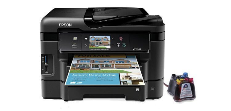 МФУ Epson Workforce WF-3540 Refurbished с СНПЧ